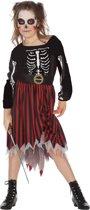 Spook & Skelet Kostuum | Onverslaanbaar Zombie Piratenmeisje Kostuum | Maat 164 | Halloween | Verkleedkleding