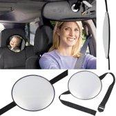 Achterbank Autospiegel - Baby & Kinderen Auto Spiegel – Babyspiegel - Zwart