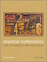 Essential Mathematics for Economics and Business 4E