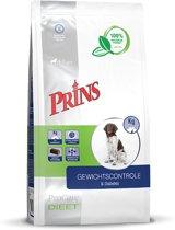 Prins Procare Dieet Gewichtscontrole/Diabetes - Hondenvoer - 10kg - Geperst