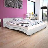 vidaXL Bed met traagschuimmatras kunstleer 160x200 wit