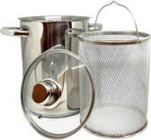 RVS Aspergepan met Glazen Deksel  - 21 cm - 4 Liter