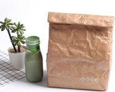 Herbruikbare Lunchbag Deluxe |Kraftpapier BPA| Lunchtas
