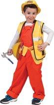 Bouwvakker & Trucker Kostuum | Oranje Kinder Werkmans Overall Oranje | Jongen | Maat 140 | Carnaval kostuum | Verkleedkleding