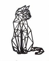 FBRK. Zwaluw 75 x 55 cm   Wit - Geometrische dieren -Wanddecoratie