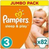 Pampers Sleep & Play - Maat 3 (Midi) 5-9 kg - 82 Stuks - Luiers