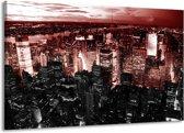 Canvas schilderij Modern | Rood, Zwart | 140x90cm 1Luik