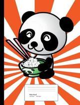 Panda Composition Book Wide Rule