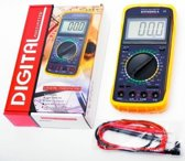 Premium Universeel Digitale Multimeter | Elektriciteitsmeter | Stroommeter met Meetkabels | Multimeter Digitaal | Voltage Meter | Ohm Meter | Inklapbare Grote Display