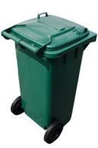 Kunststof Rolcontainer, kliko, Afvalcontainer Mini-container 120 Liter groen