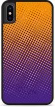 iPhone Xs Hardcase hoesje oranje paarse cirkels