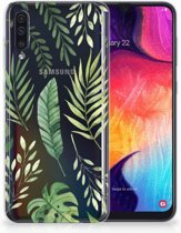 Samsung Galaxy A50 Hoesje TPU-siliconen Groen Leaves