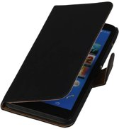 Wicked Narwal | bookstyle / book case/ wallet case Hoes voor sony Xperia Z4 Z3+ Zwart