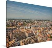 Uitzicht op de Franse stad Straatsburg Canvas 180x120 cm - Foto print op Canvas schilderij (Wanddecoratie woonkamer / slaapkamer) / Europese steden Canvas Schilderijen XXL / Groot formaat!