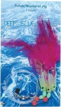 AlbatrosDeep Blue Pollack-Mackerel Rig - 115 cm - Haakmaat 3/0