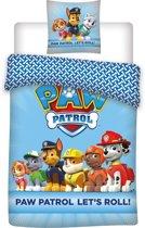 PAW Patrol Let's Roll! - Dekbedovertrek - Eenpersoons - 140 x 200 cm - Blauw
