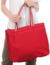Boodschappentas rood/wit 41 cm