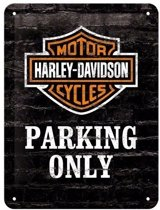 Muurplaatje Harley Davidson parking