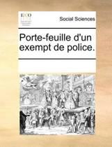 Porte-Feuille D'Un Exempt de Police.