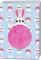 Blueprint Collections Notitieboek Happy Zoo Konijn A5 Blauw/roze