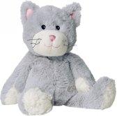 Magnetron knuffel grijze kat