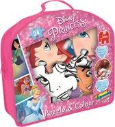 Jumbo Princess Puzzel & Kleuren - 24 stukjes