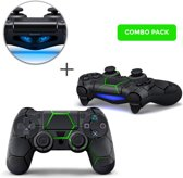 Hex Lime Combo Pack - PS4 Controller Skins PlayStation Stickers