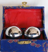 Meridiaankogels zilver 4cm Anti Stress - Stressbal