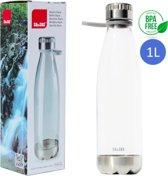 IBILI Drinkfles Volwassenen 1 liter - Doorzichtig - Waterfles Volwassenen en Kinderen