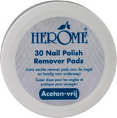 Herôme Caring Nail Polish Remover Pads - 30 st - Nagellakremoverpads