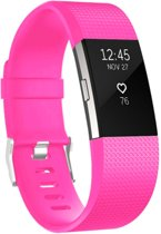 YONO Siliconen bandje - Fitbit Charge 2 - Roze - Large