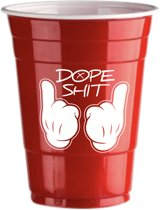 50 Red Cups Dope Design - 500ml Rode Party Bekers dubbelzijdig bedrukt - Original Beer Pong
