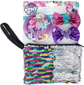 My Little Pony toilettas set met 2 haarclips en 1 spiegel