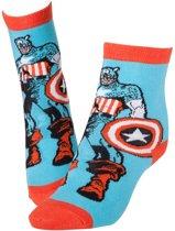 Marvel - Captain America , Red & Blue Socks - 39/42
