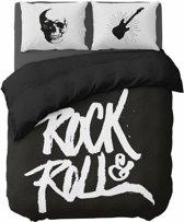 Nightlife Dekbedovertrek Rock'n Roll Black-200x200/220