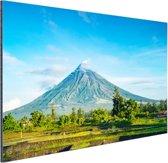 Een vulkaan op de Filipijnen Aluminium 120x80 cm - Foto print op Aluminium (metaal wanddecoratie)