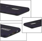 Let op type!! Voor Galaxy S9 + backcover berijpte TPU + PC beschermende hoes met houder (donkerblauw)