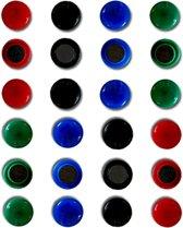 Whiteboard magneten assorti 4 kleuren 24 stuks
