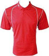 KWD Poloshirt Victoria korte mouw - Rood/wit - Maat 164/S