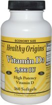 Vitamine D-3, 2000 IE, 360 softgels, Healthy Origins