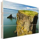 Prachtig uitzicht over de Fundybaai Vurenhout met planken 120x80 cm - Foto print op Hout (Wanddecoratie)