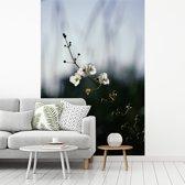 Fotobehang vinyl - Een pijlkruid met een vervaagde achtergrond breedte 195 cm x hoogte 300 cm - Foto print op behang (in 7 formaten beschikbaar)