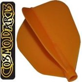 Cosmo Darts Fit Flight Super Shape Orange  Set à 3 stuks Donker Blauw