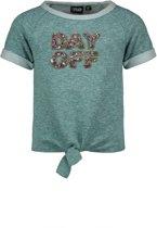 Like Flo Meisjes sweaters Like Flo Flo girls melee sweat knotted top turquoise 164