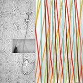 Roomture - douchegordijn - Colorful Stripes - 120 x 200
