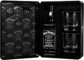 Jack Daniels Cadeauverpakking in Tin - 1 x 70 cl + 2 tumbler glazen