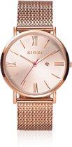 ZINZI ZIW505M - Horloge - Rosékleurig - Ø 34 mm