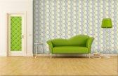 Fotobehang Papier Abstract | Geel, Groen | 254x184cm