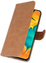 Bookstyle Wallet Case Hoesje voor Samsung Galaxy A30 Bruin