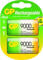 GP Batteries NiMH rechargeable batteries D Nikkel Metaal Hydride 9000mAh 1.2V oplaadbare batterij/accu